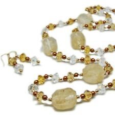 Gorgeous Gold Filled Glass Bead Necklace and Earring Set By SoniaMcD