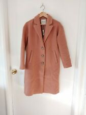 MADEWELL Bergen Cocoon Coat Antique Coral Long Wool Jacket Size XXS