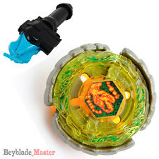 Fusion METAL Beyblade Masters NIGHTMARE REX+BLUE STRING LAUNCHER+GRIP