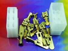 Kabelschuhe KIT 6 polig/way Flat plug / Flachstecker KIT + Gehäuse / Case  #A432