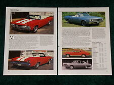 ★1969 CHEVY CHEVELLE SPEC SHEET 69 SS MALIBU 396 427 CONVERTIBLE NOMAD 300 COUPE