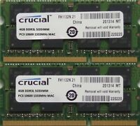Crucial ram 8GB kit DDR3 PC3-10600, 1333MHz for latest 2011 Apple Mac mini's