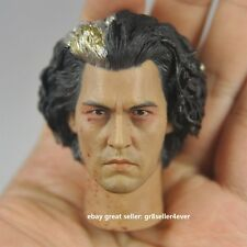 """Hot 1/6 scale Toys Head Sculpt Sweeney Todd Johnny Depp Fit 12"""" figure#US"""