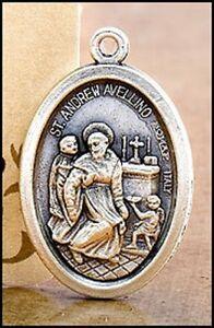 St. / Saint Andrew Avellino Medal / Charm !!!!!!!!!!!!!