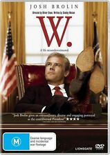 W (DVD, 2009)  W.   JOSH BROLIN..GEORGE W BUSH..REG 4..NEW & SEALED   D2610