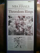 Framed LA Lakers Kobe Bryant Shaquille Oneal Jackson Printing Plate LA Times