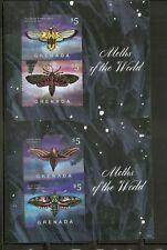 Grenada / 2014 Moths Of The World Miniature Sheet  . MNH