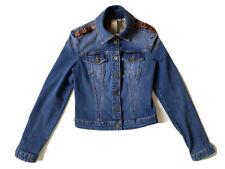 Veste en jeans BURBERRY détails cuir - Taille 36