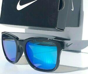 NEW* NIKE RECOVER R BLACK Wolf Grey w/ Blue Mirror Lenses EV0965 014