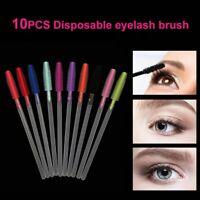 10Pc Eyebrow Applicator Silicone Eyelash Brush Lash Extension Comb Mascara Wands