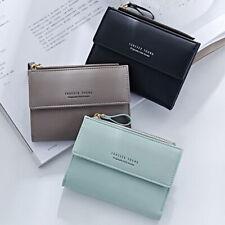 Fashion Women Zipper RFID Wallet Fashion Lady Solid Coin Pocket Purse Clutch Bag