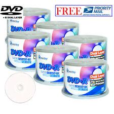 300 Pcs SmartBuy White Inkjet Hub Printable DVD+R DL 8x Dual Layer Record Disc