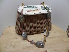 Vintage Fishing Creel - Western Belt Strap - Leather Whipstitch