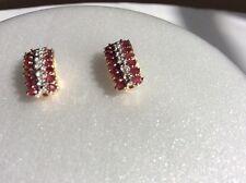 10kt Yellow Gold Ruby Earrings