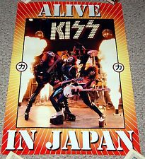 KISS 1975 Photo Alive In Japan Tour Concert 2003 Souvenir Poster Simmons Frehley