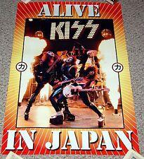 KISS 1975 Photo Alive In Japan Tour Concert 2003 Souvenir Poster Simmons Frehley