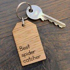 Best Spider Catcher - Fathers Day Keyring for Dad Daddy Birthday Christmas Gift