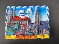 Magnet München Munich Marienplatz  Poly Relief 7 cm Germany Souvenir,NEU