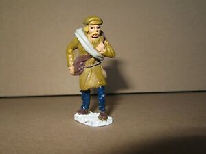 357P Soldier Lead Painted H 5,8 CM Poilu On Base War 14/18 WWI