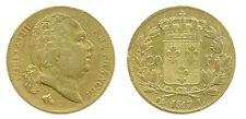 LOUIS XVIII - 20 FRANCS OR 1817 L BAYONNE