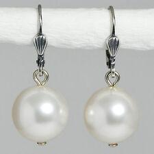 Grevenkämper Ohrringe Swarovski Perlen Silber Rund kurz 30 mm klar weiß White