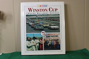 1973 NASCAR Winston Cup yearbook with dust cover.