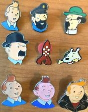 Moulinsart Tintin Character Heads & Rocket Pin Badges INDIVIDUAL PURCHASE Herge