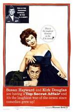 TOP SECRET AFFAIR Movie POSTER 27x40 Susan Hayward Kirk Douglas Paul Stewart Jim