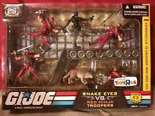 GI Joe 25th Anniversary|SNAKE EYES vs RED NINJAS figures| Toys R Us exclusive