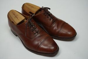 Cheaney Royal Tweed Brown Cap Toe Leather Mens Dress shoes Sz 6EEE 3E