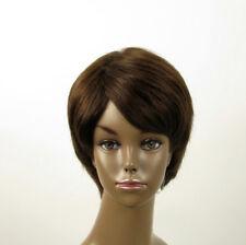 Perruque afro femme 100% cheveux naturel châtain ref SHARONA 02/6