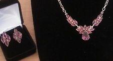 18K Gold Filled Australian Crystal Necklace & Earring Set