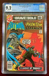 BRAVE AND THE BOLD #145 CGC 9.2 WP NM (DC 1979) BATMAN & PHANTOM STRANGER 🔑