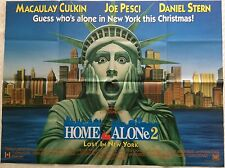 Home Alone 2 UK Movie Quad Film Poster 1992 Macaulay Culkin, Joe Pesci