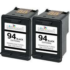 2 PACK For HP #94 Black Ink For Officejet 6200 6210 6213 6215 7210 7310 7410
