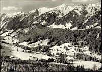 """GUNZESRIED Bayern Schwaben """"Säge im Allgäu"""" Panorama Berge s/w AK ungelaufen"""