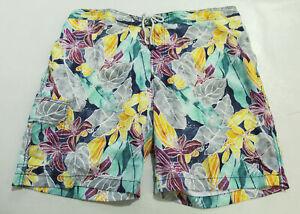 "Tommy Bahama Mens Baja Ibiza Beach Club 9"" Boardshorts JQ2 Kingdom Blue Size 2XL"