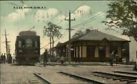 Clyde NY RS&E RR Train Station Depot c1910 Postcard