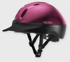 New Troxel Spirit, Vented Riding hat,Gloss Fuchsia (Hot Pink) Small  (53-56cm)
