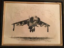 Genuine Painting Framed 16 X 12 Real Canvas Military Airplane Emer Tapnio Artist