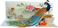 Peacock All Occasion Greeting Card 3D Pop Up Panoramics Up With Paper