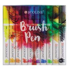 TALENS Ecoline ACQUARELLI LIQUIDI Brush Pen Set di 10. ARTISTI brushpens