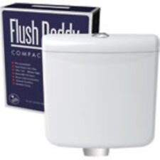 LOW LEVEL PLASTIC DUAL PUSH BUTTON TOILET WC CISTERN BOTTOM ENTRY FLUSH DADDY