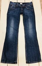 HUDSON Jeans Signature Bootcut Sz 28/30 Denim Triangle Flap Pocket Hardly Worn!