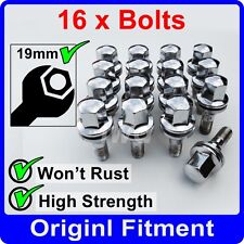 16 x ALLOY WHEEL BOLTS FOR PEUGEOT M12x1.25 (35MM LONG) FLAT SEAT LUG NUT [G1]