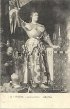 French Artist Drawn PC-  Joan of Arc- Jeanne d Arc- Armor- Banner- 1906-1915