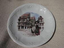 """Vintage Petit Deep Display Plaque décors Anne EHRET porcelain 67 ranrupt 7.5"""""""