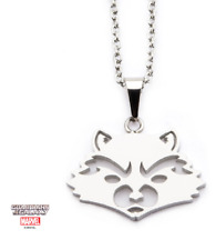 Inox Stainless Steel Marvel Pendant Chain Necklace Rocket Guardian of the Galaxy