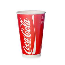 Coca Cola 2000 Becher 0,25l / 0,3l Pappbecher Kaltgetränkebecher Colabecher Eich
