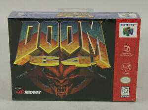 Doom 64 Nintendo N64 1997 Midway Id Software Brand New Factory Sealed V-Seam
